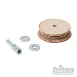 Profilovaný kožený honovací kotouč - TWSLHW Profiled Leather Honing Wheel