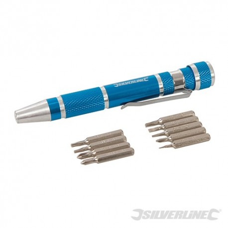Zestaw wkretaków precyzyjnych, 9 szt. - 110 mm