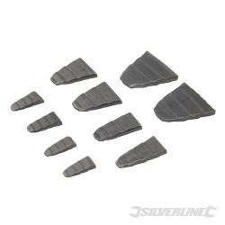Sada ocelových klínků - 10 dílů - 10pce