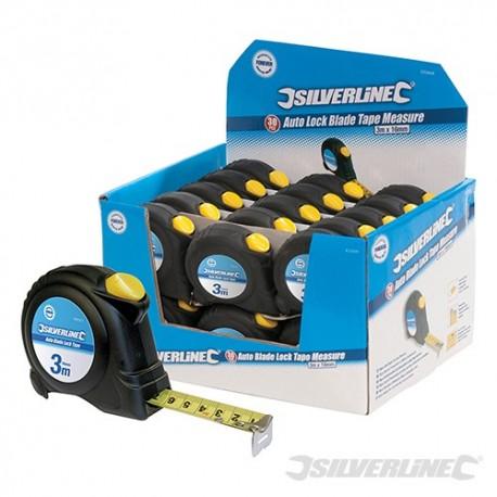 Auto Blade Lock Tape Display Box - 30pce 3m / 10ft x 16mm
