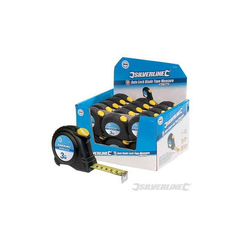 Auto blade lock tape display box 30pce 3m 10ft x 16mm for 16 box auto