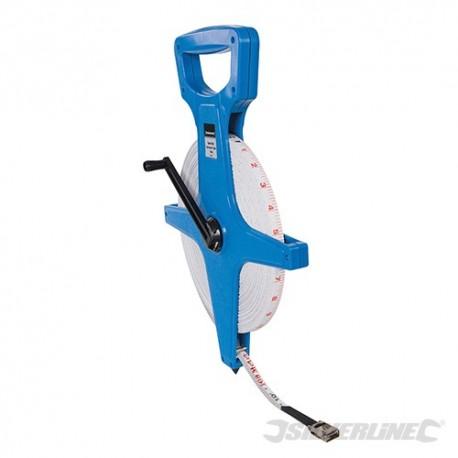 Silverline Volné kotoučové svinovací pásmo - 100m MT47 5024763009587
