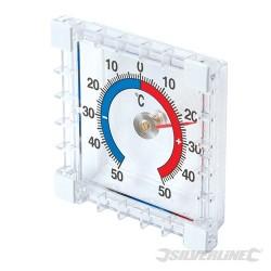 Samoprzylepny termometr do pomiaru temp wew. i na zew. - -50° to +50°C