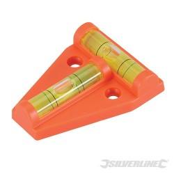 Dvousměrná mini vodováha - 60 x 45mm