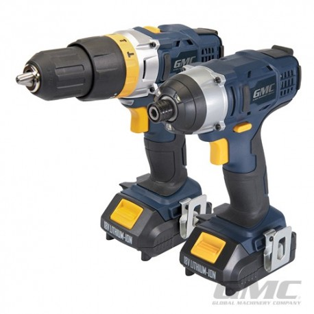 18V Combi Drill & Impact Driver Twin Pack - GTPCDID18