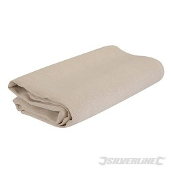 Cotton Fibre Dust Sheet - 3.6 x 2.7m (12' x 9') Approx