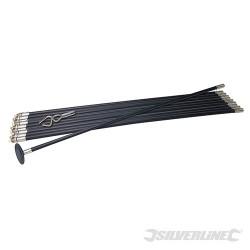 Lock Rod Drain Rod System - 12pce Drain Rod Set