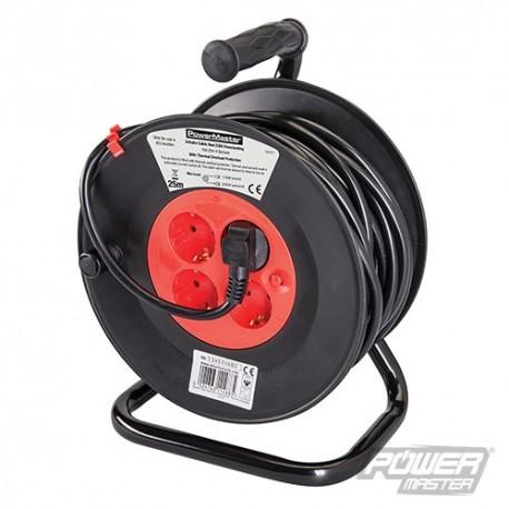 Prodlužovací kabel na bubnu, 230 V, norma Schuko, 16 A - 16A 25m 4 CEE 7/4 Sockets