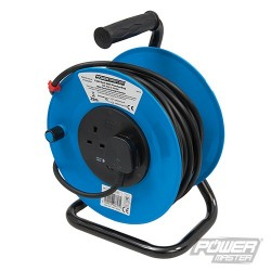 Cable Reel 240V Freestanding - 13A 25m 2 Socket