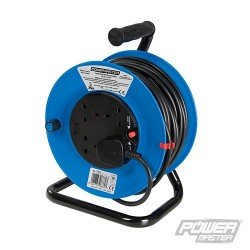 Cable Reel 240V Freestanding - 13A 25m 4 Socket