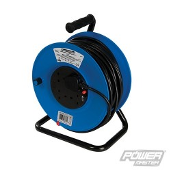Cable Reel 240V Freestanding - 13A 50m 4 Socket
