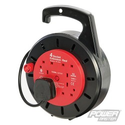 Cassette Cable Reel 240V 4 Socket - 10A 10m