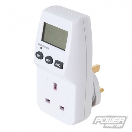 Mains Plug-In Power Consumption Monitor - UK - 13A