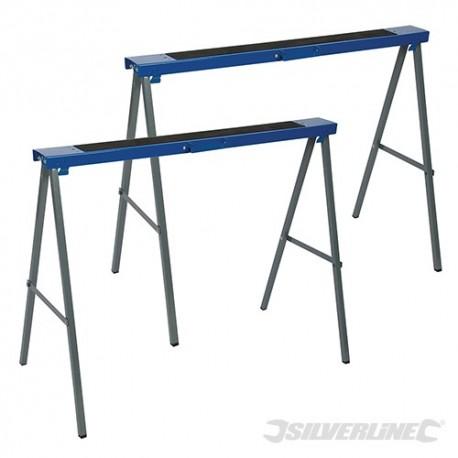 Silverline Kovové podpěrné kozy - balení 2 kusů - 125kg 783160 5055058195289