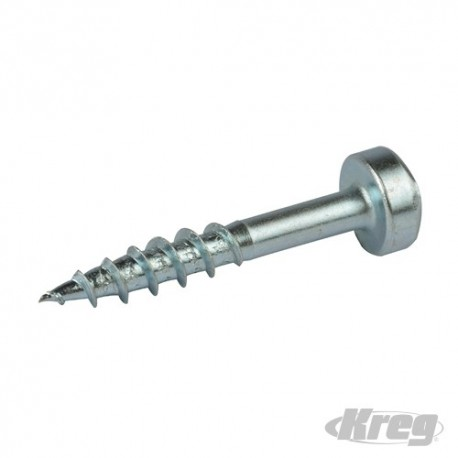 "Zinc Pocket-Hole Screws Pan Head Coarse - No.7 x 1"" 100pk"