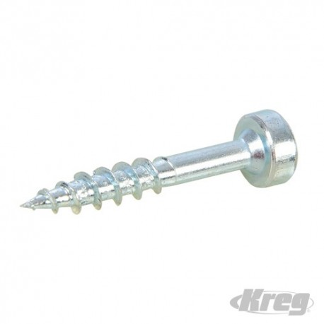 "Zinc Pocket-Hole Screws Pan Head Coarse - No.7 x 1"" 250pk"