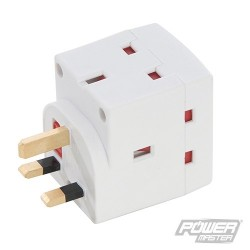 3-Gang Socket Adaptor 230V - 13A 230V