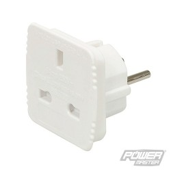 UK to EU Travel Adaptor 230V - 6A 220-230V