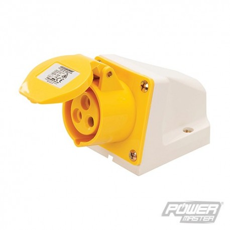 16A Surface-Mountable Socket - 110V 3 Pin