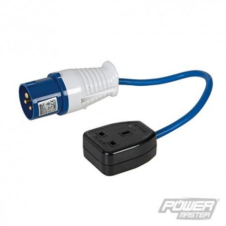 16 A - 13 A Redukce - 16A Plug to 13A Socket