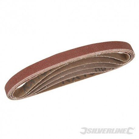 Sanding Belts 10 x 330mm 5pce - 40, 60, 2 x 80, 120G