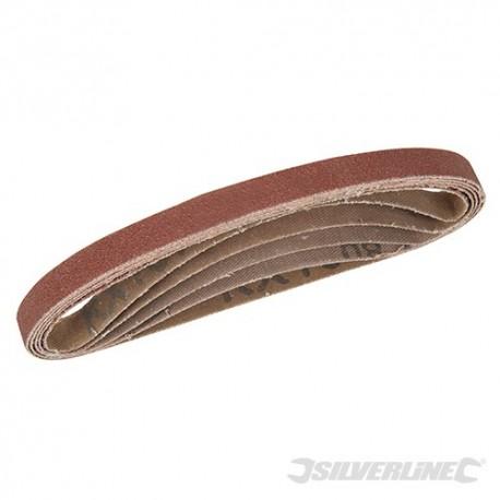 Sanding Belts 10 x 330mm 5pce - 40, 60, 2 x 80, 120G