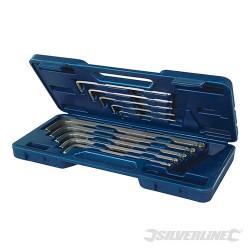 Zestaw kluczy imbusowych z koncówka kulista, 10 szt - 3 - 17 mm