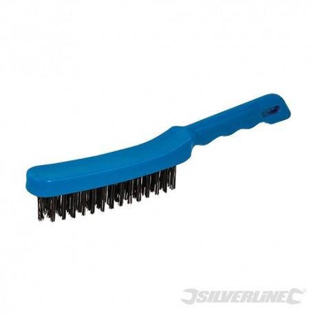 Silverline Ocelový kartáč - 4 Row 598469 5055058137623