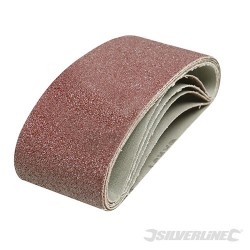 Sanding Belts 65 x 410mm 5pk - 40 Grit