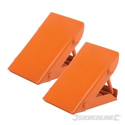 Folding Steel Wheel Chocks - Pair