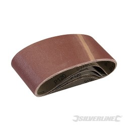 Sanding Belts 75 x 457mm 5pk - 120 Grit