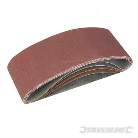 Sanding Belts 75 x 457mm 5pce - 40, 60, 2 x 80, 120G