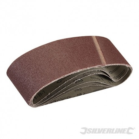 Sanding Belts 75 x 533mm 5pk - 60 Grit