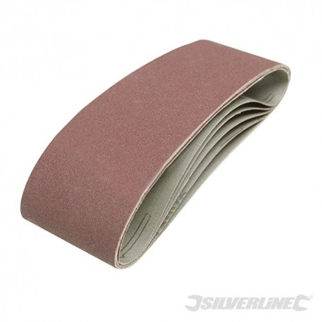 Sanding Belts 75 x 533mm 5pk - 120 Grit