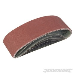 Sanding Belts 75 x 533mm 5pce - 40, 60, 2 x 80, 120G