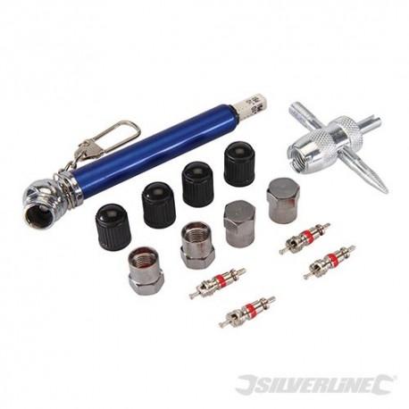 Silverline Sada na opravu ventilků - 14 dílů - 10 - 50psi 380568 5024763038365