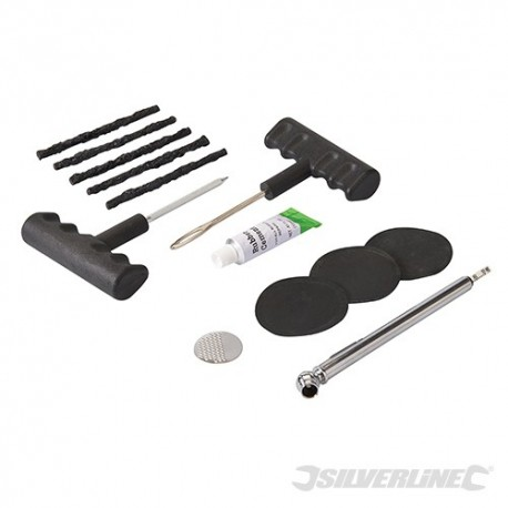 Silverline Sada na opravu pneumatik - Repair Kit 380421 5024763038372