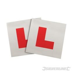 """Magnetyczne plakietki """"L"""", 2 szt. - 2 szt."""