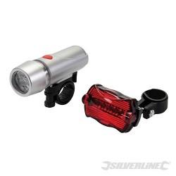 Komplet lamp rowerowych 5 LED 2 szt. - 2 szt.