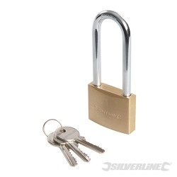 Brass Padlock Long Shackle - 50mm