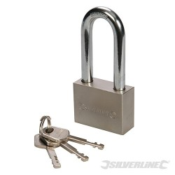 Steel Padlock Long Shackle - 50mm