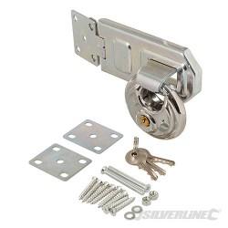 Disc Padlock & Steel Hasp Set 2pce - 70mm