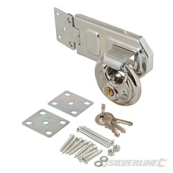 Disc Padlock & Steel Hasp Set 2pce - 70mm