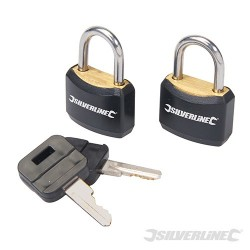 Padlock Set Keyed Alike 2pce - 20mm