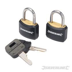 Zestaw powleczonych klódek z kluczami, 2 szt. - 20 mm
