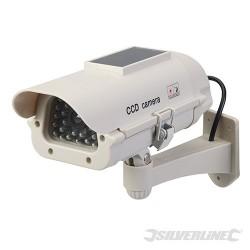Solar-Powered Dummy CCTV Camera with LED - Solar-Powered
