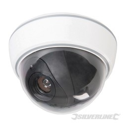Dummy Security Dome Camera with LED - 3 x AA