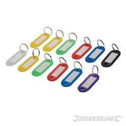 Assorted Coloured Key ID Tags 12pk - 12pk