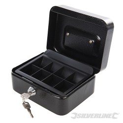 Metalowa kasetka z zamkiem na kluczyk - 165 x 128 x 80 mm