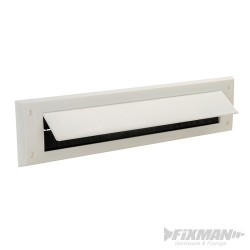 Letterbox Draught Seal with Flap - 338 x 78mm White